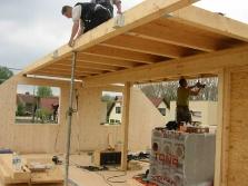 Geschossdecke und Dach: Vollzolz