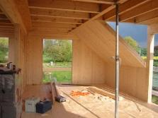 Dachkonstruktion mit Gaube