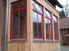Anbau in Holzkonstruktion